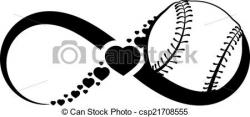 Infinity clipart softball