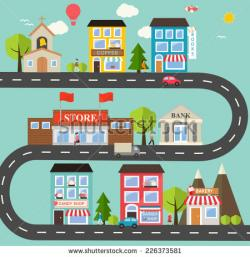 Business clipart town