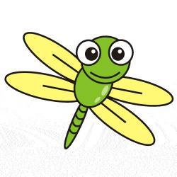 Glowworm clipart dragonfly