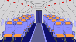 Inside clipart airplane
