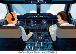 Pilot clipart airplane cockpit