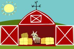 Open Door clipart barn