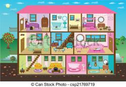 Inside clipart doll house