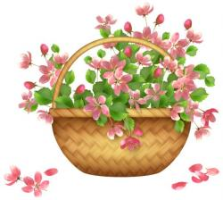 Inside clipart flower basket
