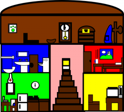 Inside clipart house cartoon