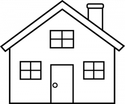 Villa clipart black and white