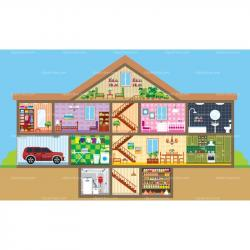 Interior Designs clipart inside house