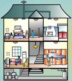 Basement clipart inside house