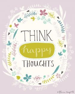 Inspirational clipart happy thought