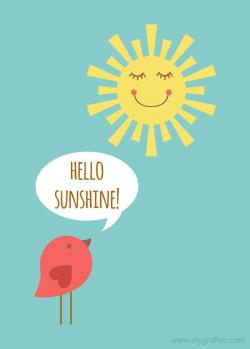 Inspirational clipart sunshine