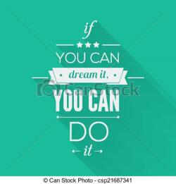 Inspirational clipart vector