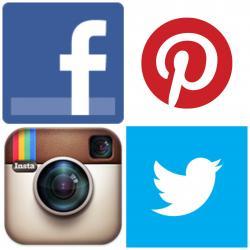 Collage clipart social media logo
