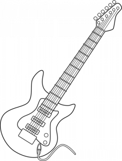 Whit clipart electric guitar