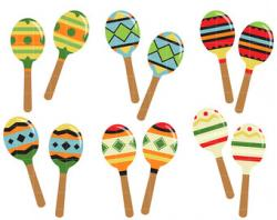 Single clipart maraca