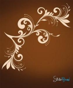 Interior Designs clipart brown swirls