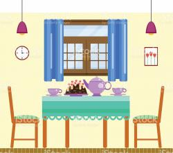 Interior Designs clipart dining room