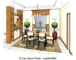 Lounge clipart interior design