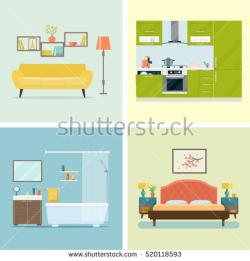 Interior Designs clipart kitchen room