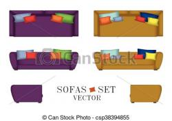 Interior Designs clipart sofa set