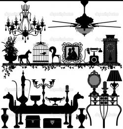 Interior Designs clipart vintage
