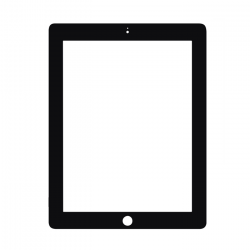 Ipad clipart black and white
