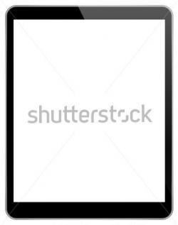 Ipad clipart blank screen