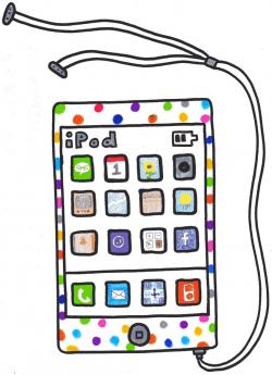 Ipod clipart colored