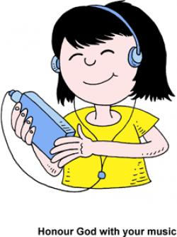 Ipod clipart hear music