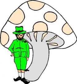 Mushroom clipart st patrick's day