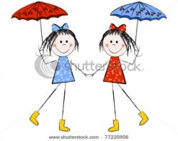 Twins clipart holding hand