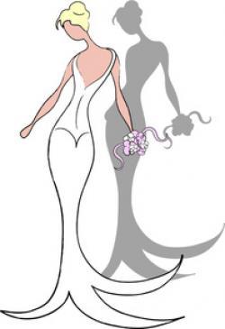 Elegance  clipart bride veil
