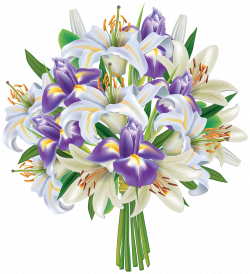 Crocus clipart flower bouquet
