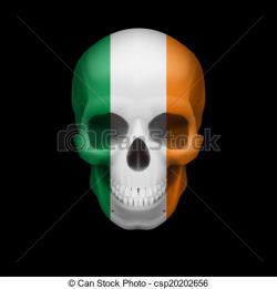 Ireland clipart skull