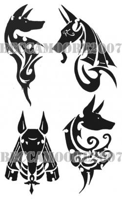 Anubis clipart tribal