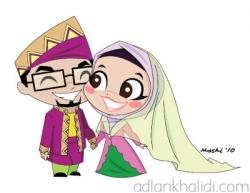 Couple clipart islamic