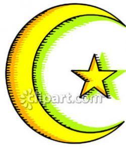 Islam clipart half moon