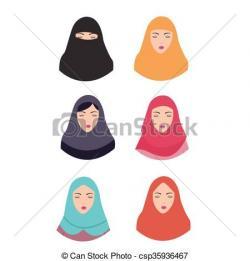 Veil clipart hijab