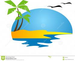 Resort clipart tropical island