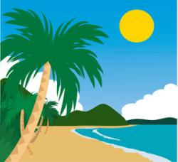 Hut clipart tropical island