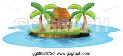 Hut clipart small island