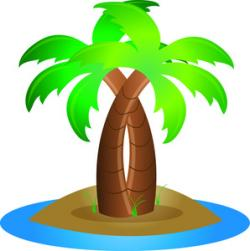 Oasis clipart tropical island