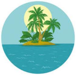 Islet clipart oasis