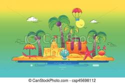 Islet clipart seaside