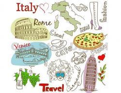 Travel clipart italy