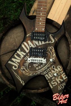 Jack Daniels clipart vintage guitar