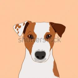 Jack Russell Terrier clipart cartoon