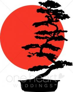 Bonsai clipart chinese tree