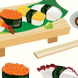 Sushi clipart japan