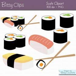 Japanese Food clipart sushi roll