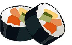 Sushi clipart california roll